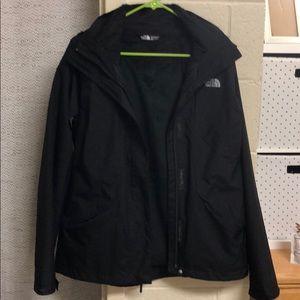 Black 2 Layer North Face Jacket